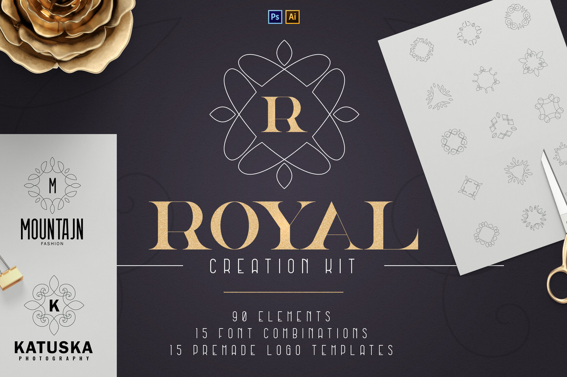 Royal Creation Kit - 100+ elements