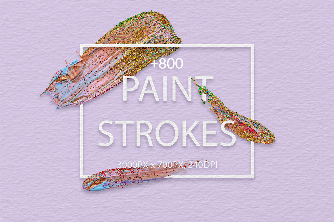 829 Acrylic Brush Strokes and Digital Brush Strokes - only $9