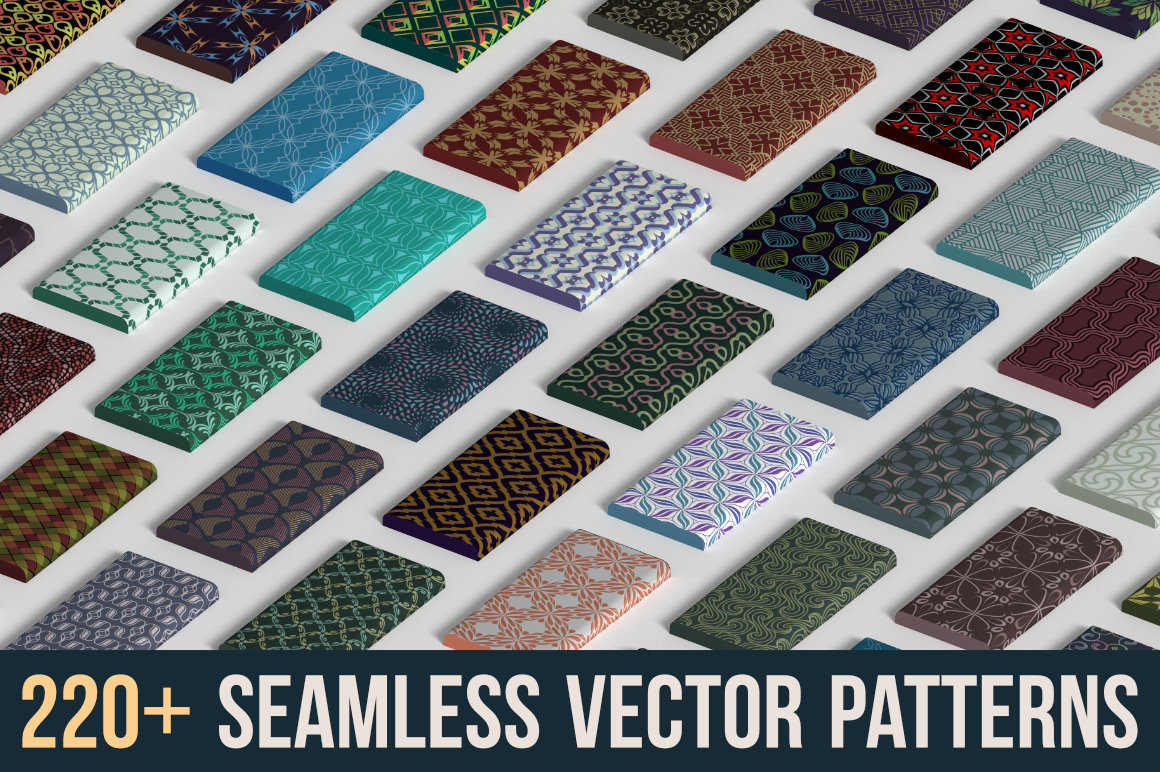 220+ Seamless Vector Patterns with Extended License