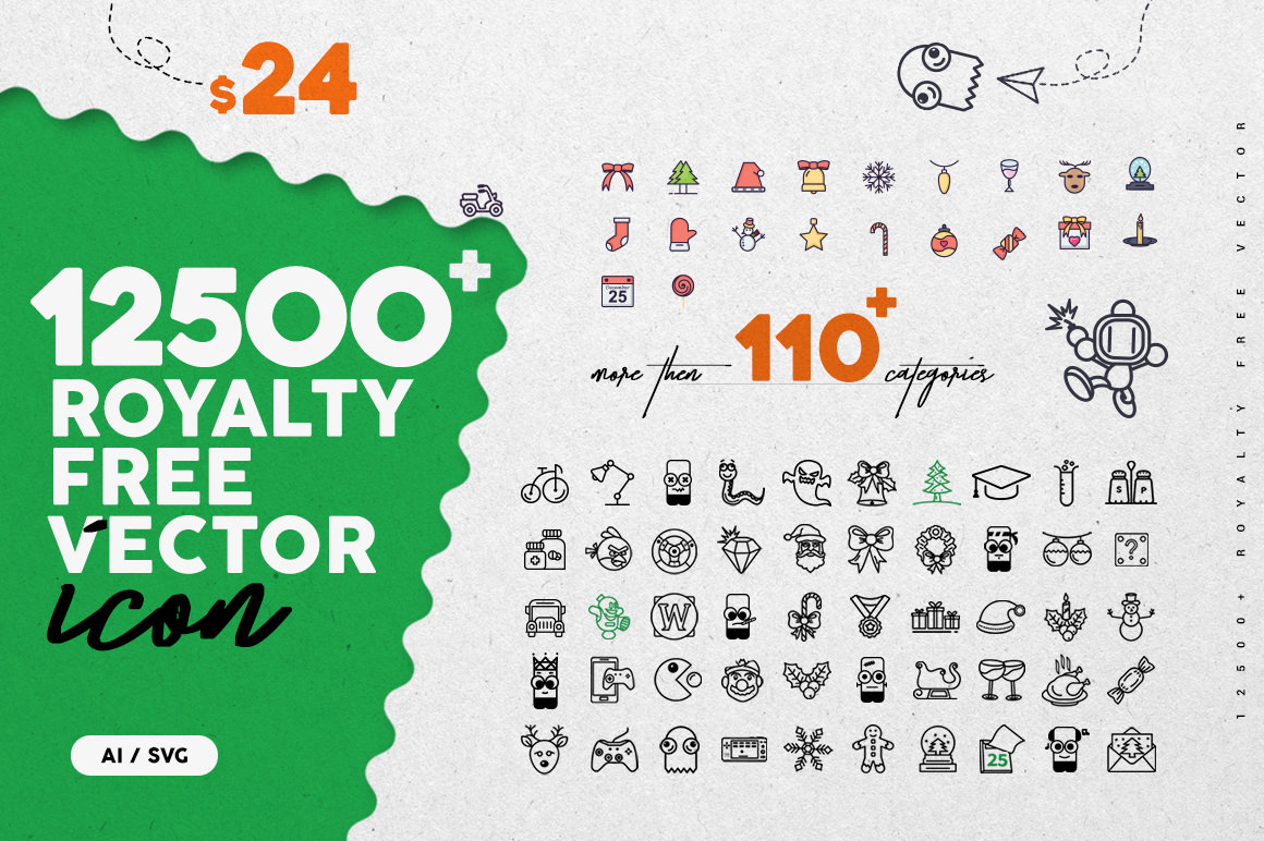Get 12500+ Royalty Free Vector Icons with Extended License