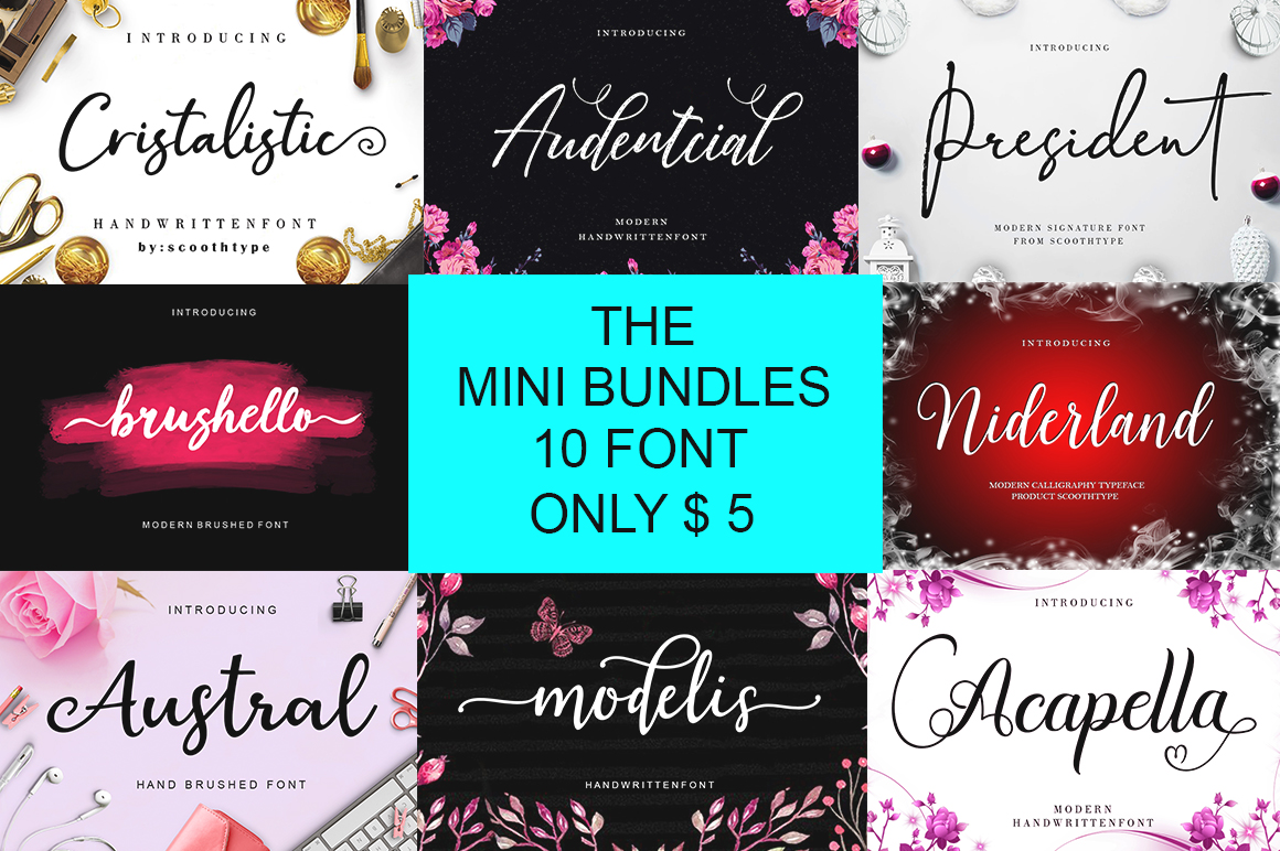 The Mini Font Bundle - only $5
