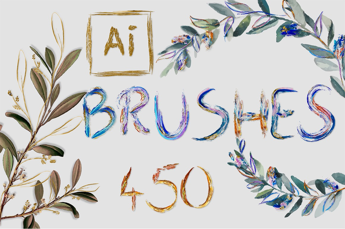 451 Art Brushes for Adobe Illustrator