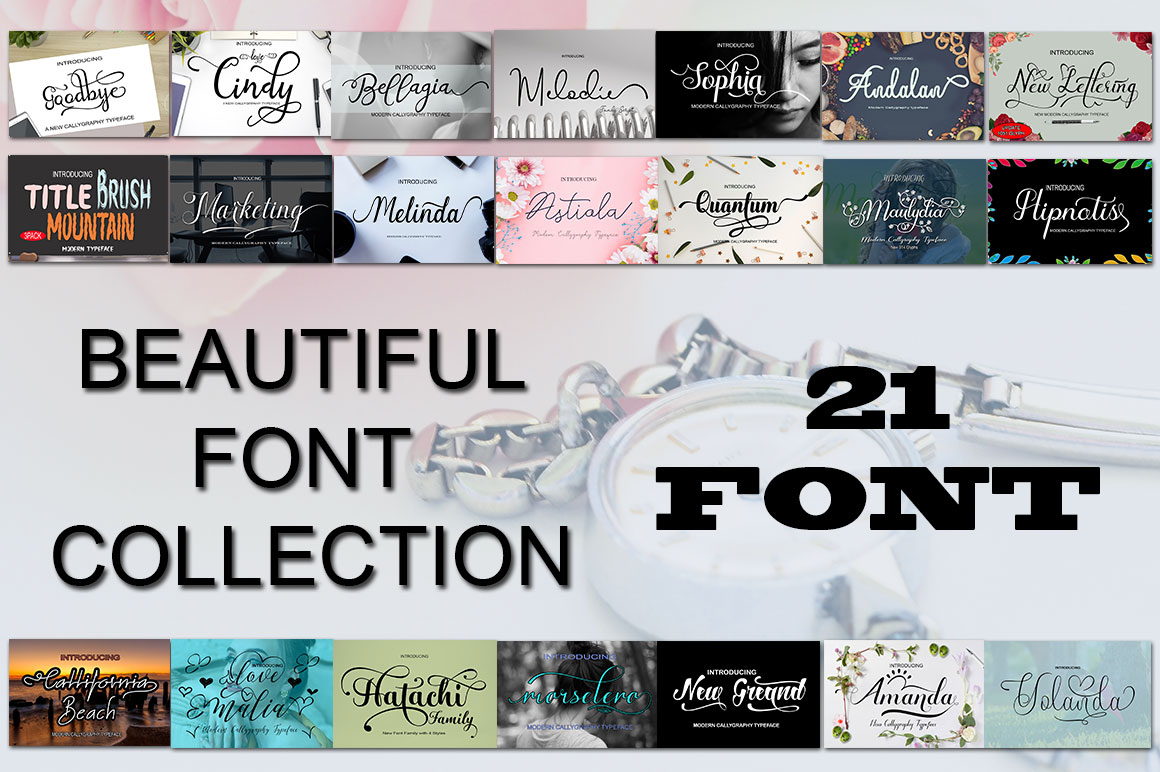 21 Stylish Fonts Scripts for only $17
