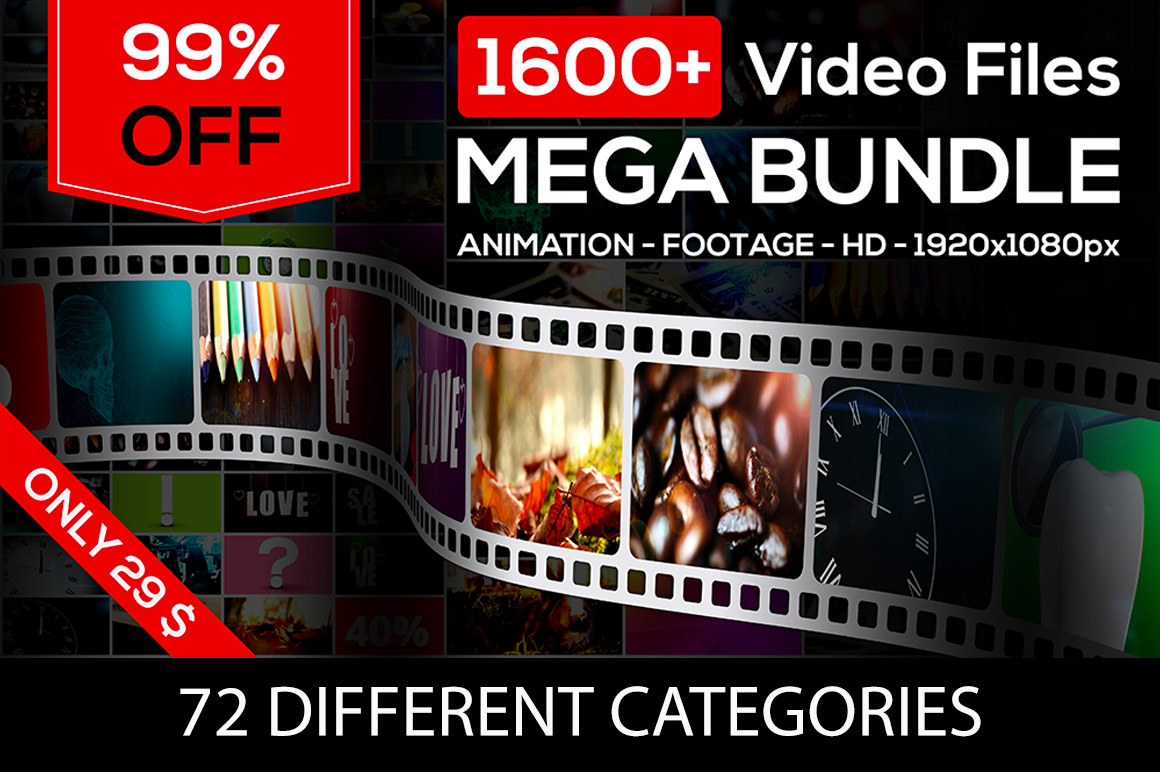 Footage Mega Bundle - Download 1692 videos for only $29