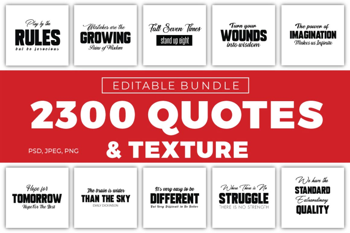 2300 Quotes & Textures Bundle