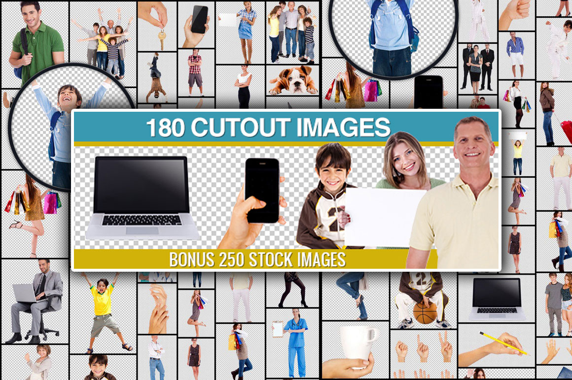 180 background-free images + 250 Stock images - only $27!