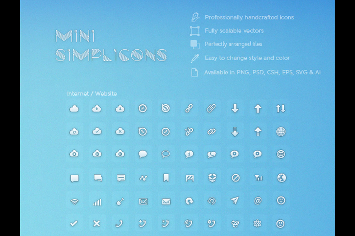 600 Vector Icons + 1 UI Kit from Pixlsby.me - Only $10