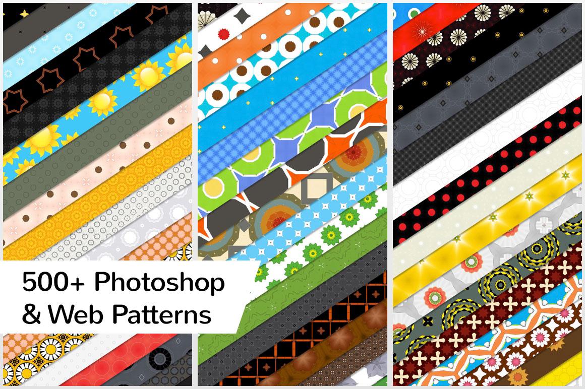 500+ Photoshop & Web Patterns