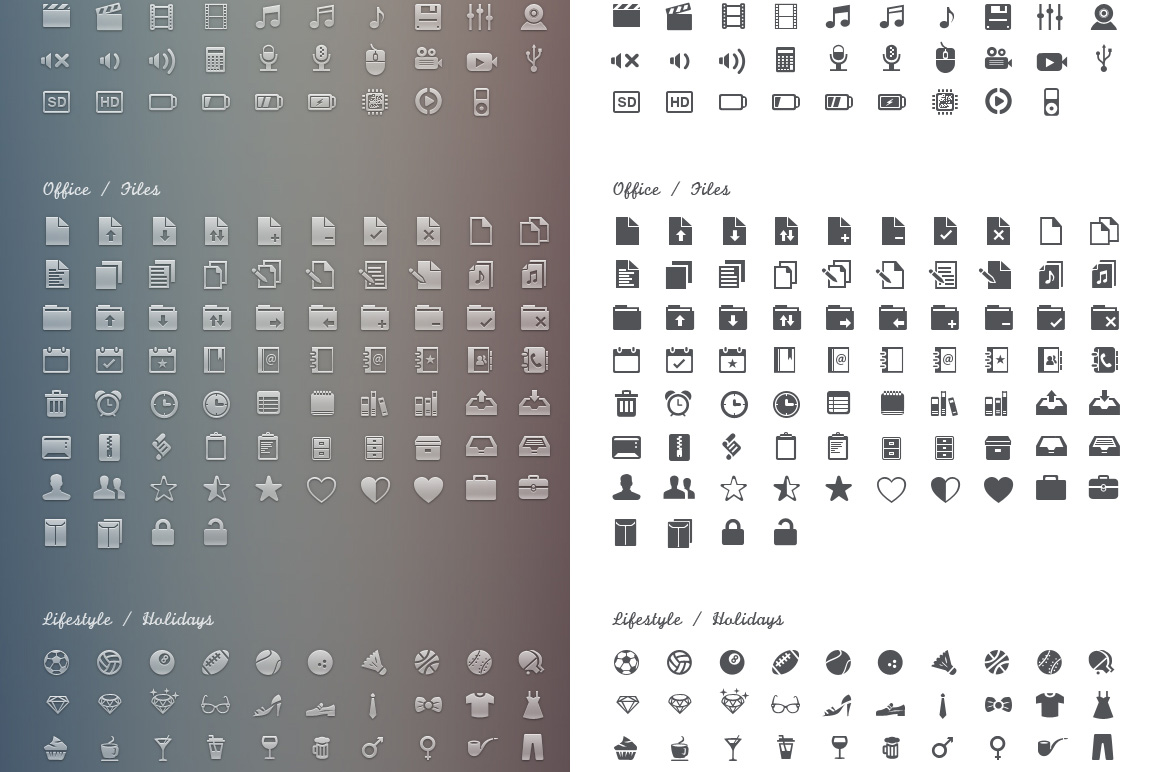600+ icons in various formats and Infinite UI KIT - only $10