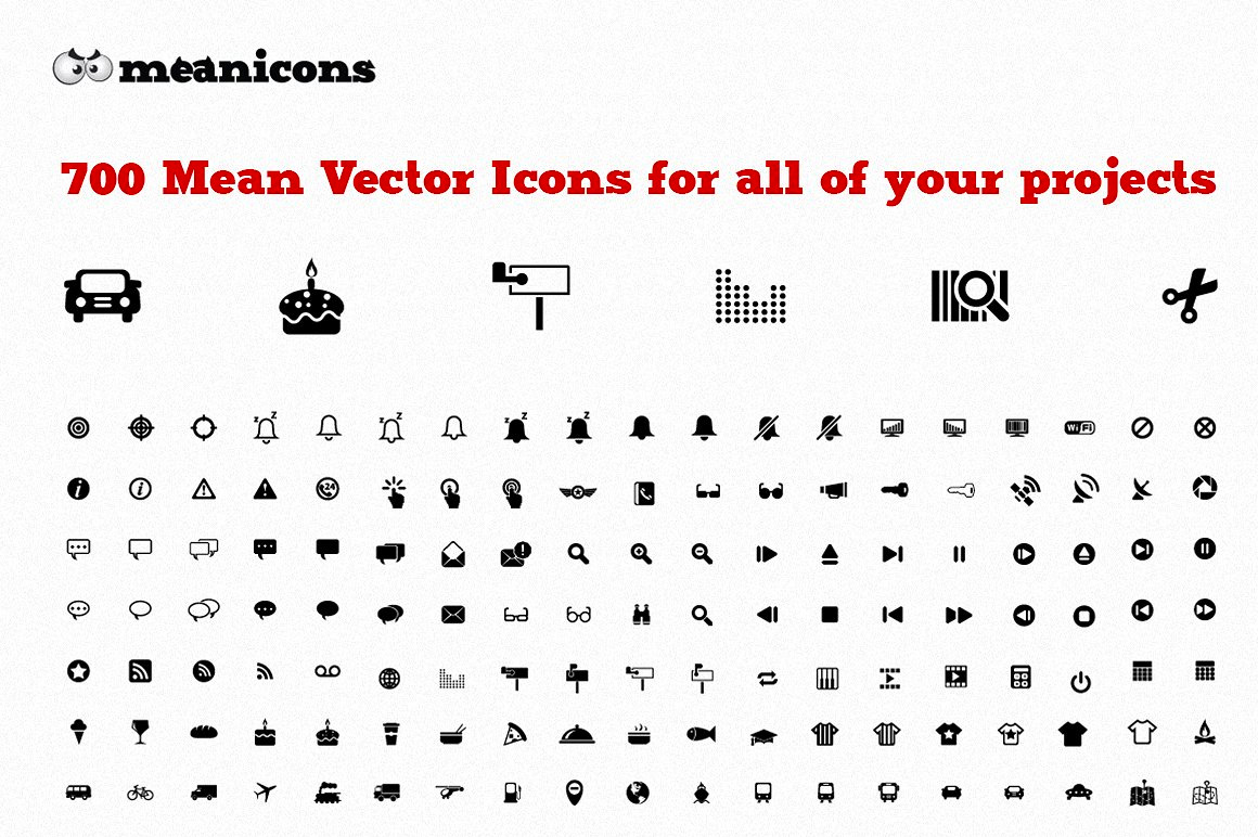 Meanicons - Download 700 Vector Icons for only $15
