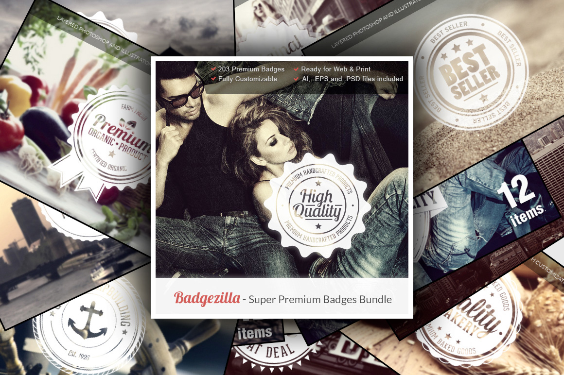 BadgeZilla - The Super Premium Badges Bundle