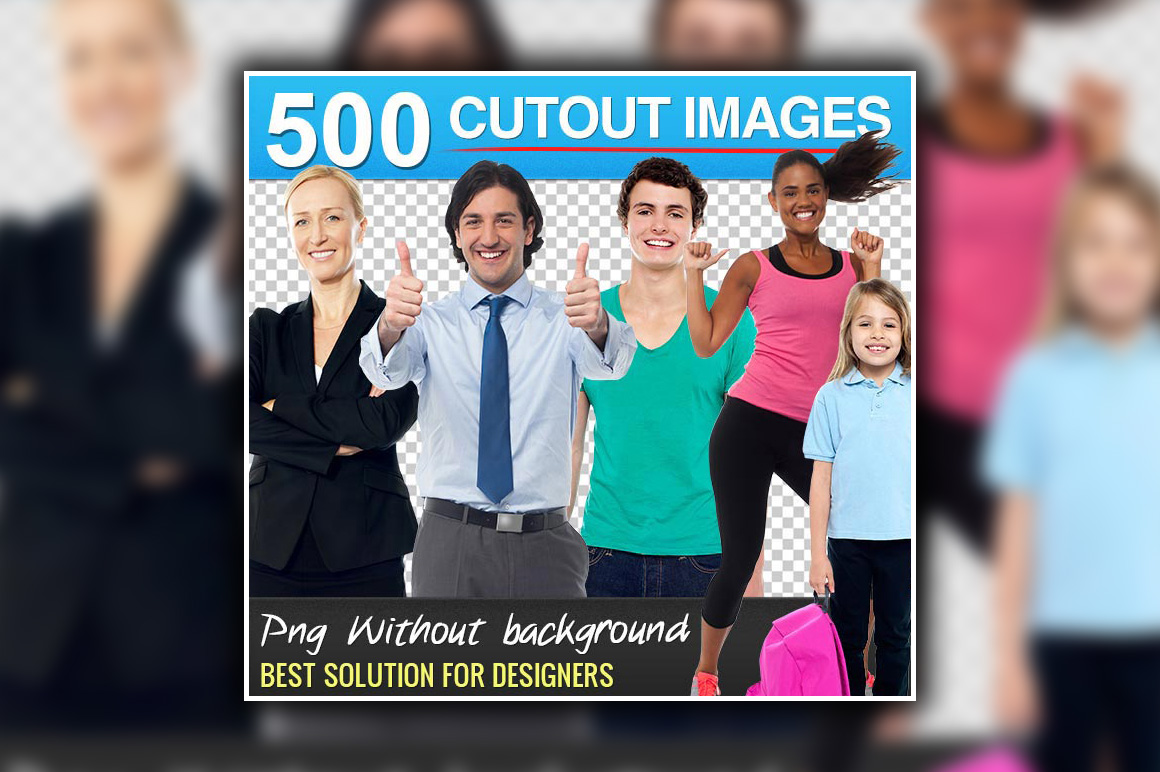 500 Stock Images WITHOUT Backgrounds - only $29!