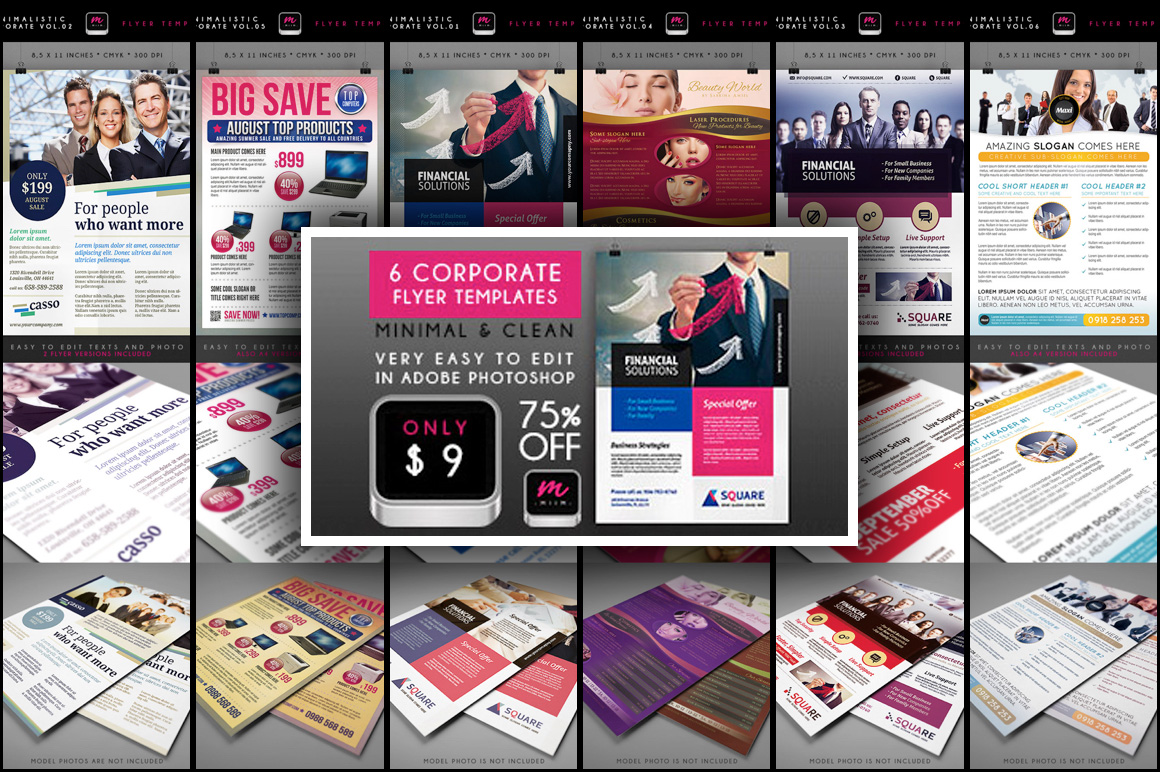 6 Corporate and Product Flyer Templates - Only $9