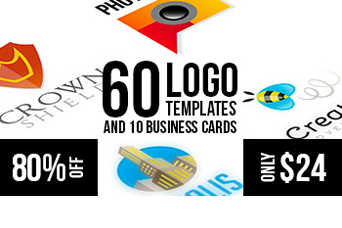 60 Logo Templates & 10 Business Card Templates