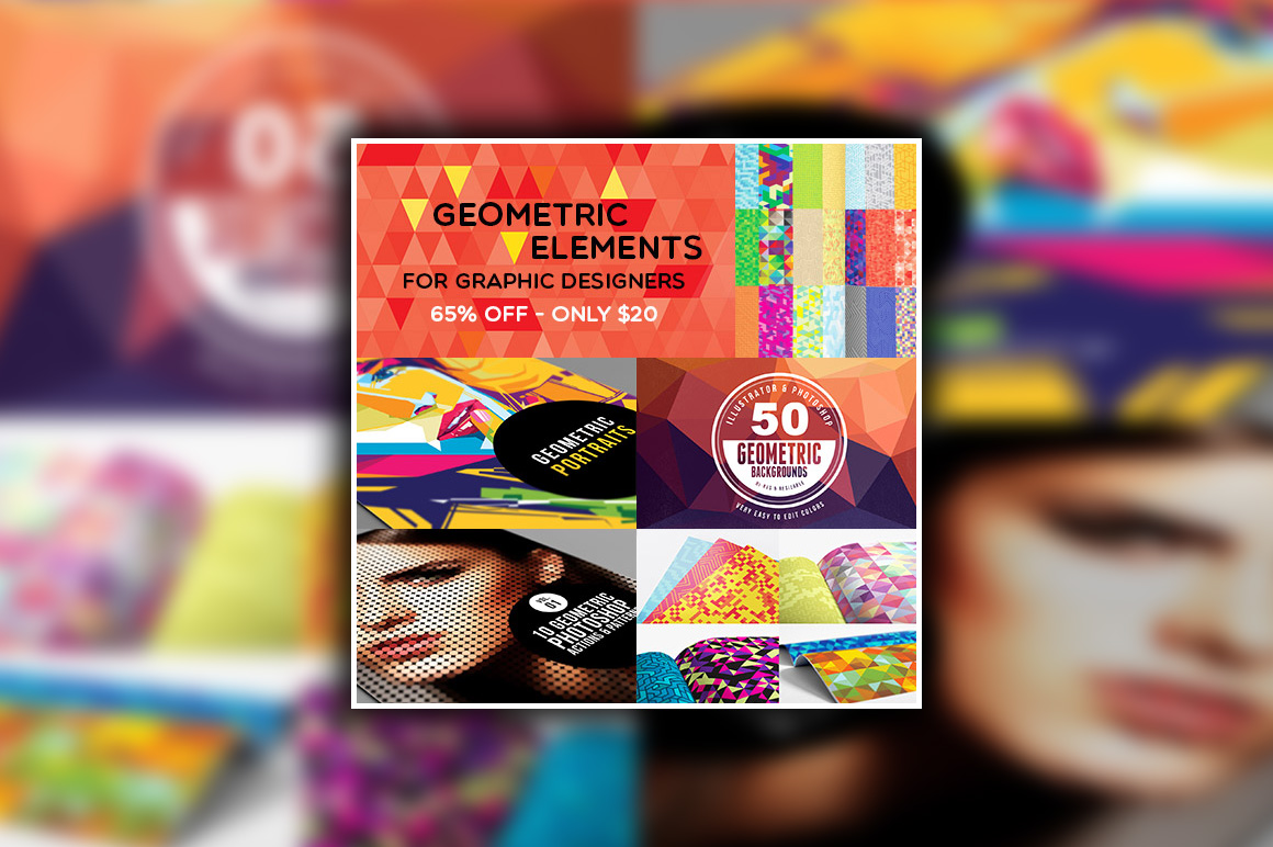 Geometric elements for your designs and amazing Photoshop actions
