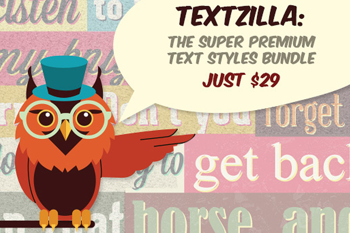 TextZilla: The Super Premium Text Styles Bundle – Just $29