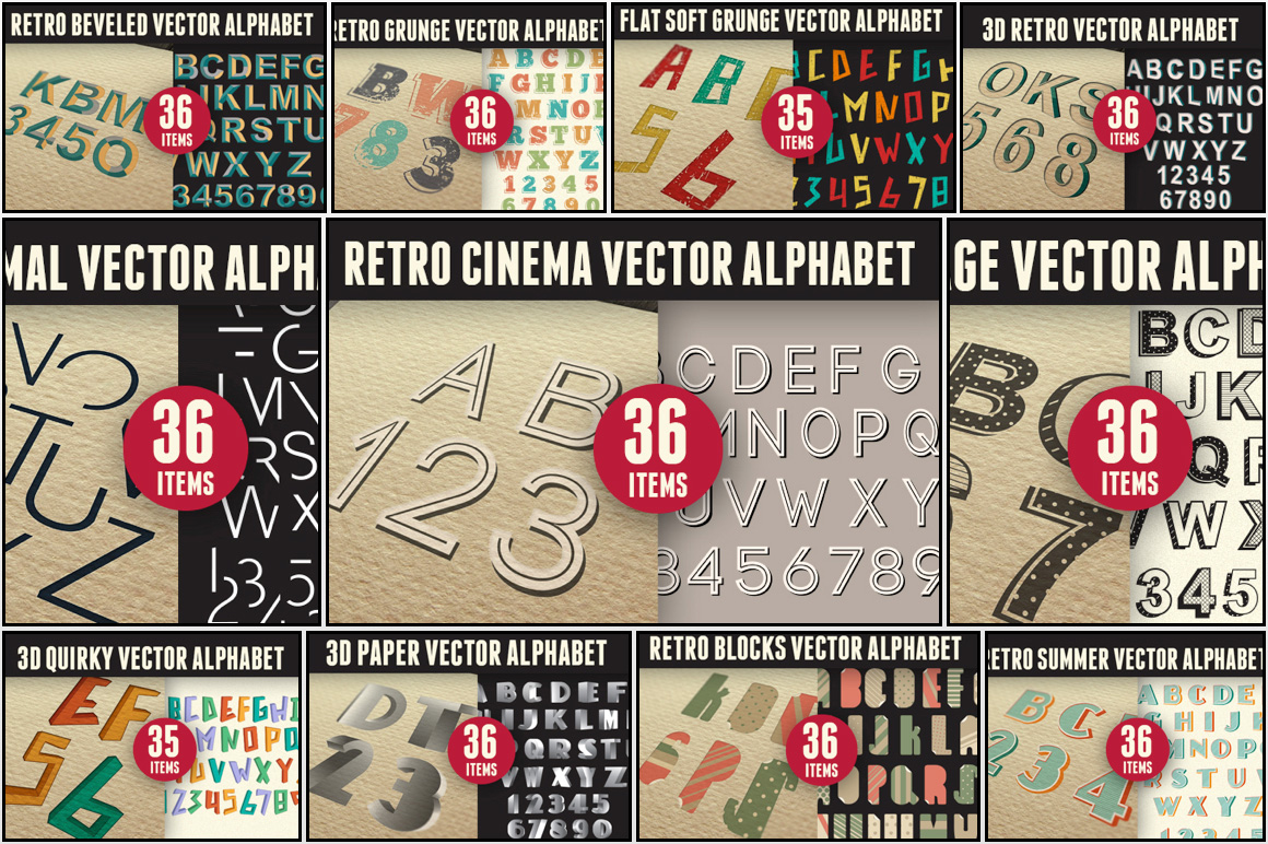 LetterZilla: The Super Premium Vector Alphabets Set for Only $29