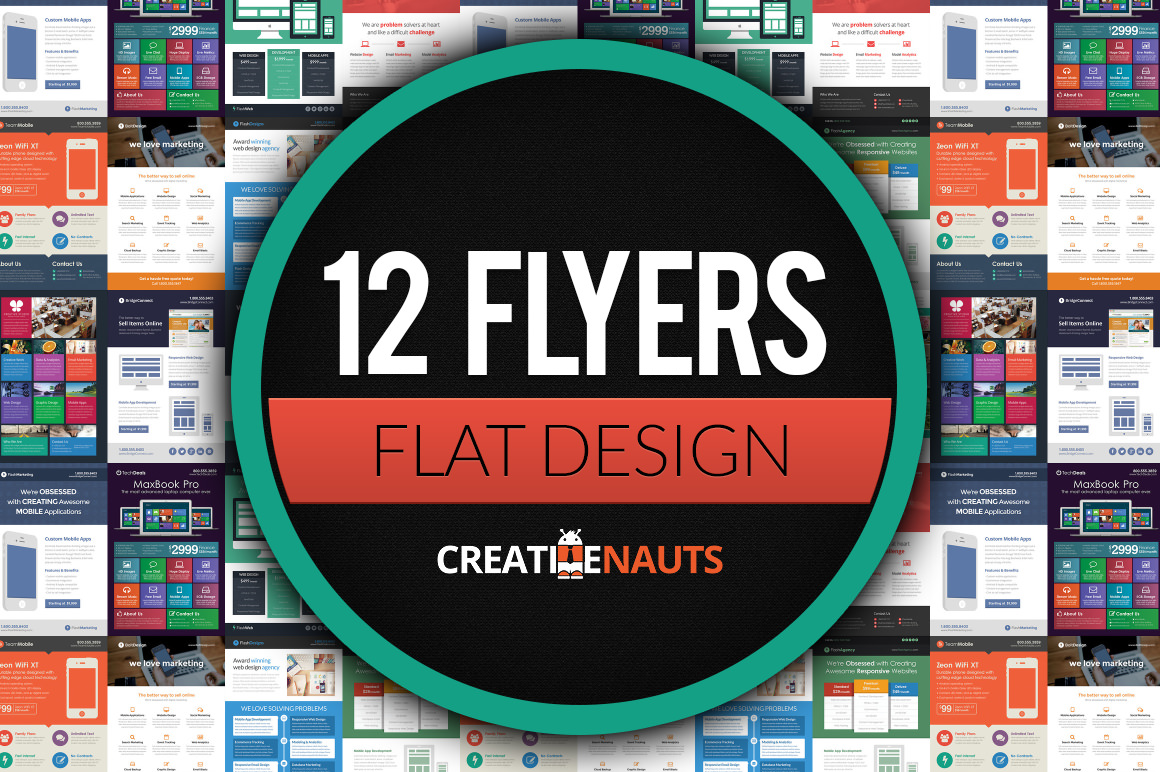 The Ultimate Flat Design Flyer Bundle