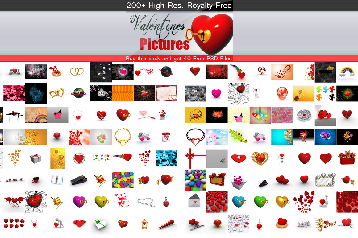 Valentines Pictures Royalty Free Pack