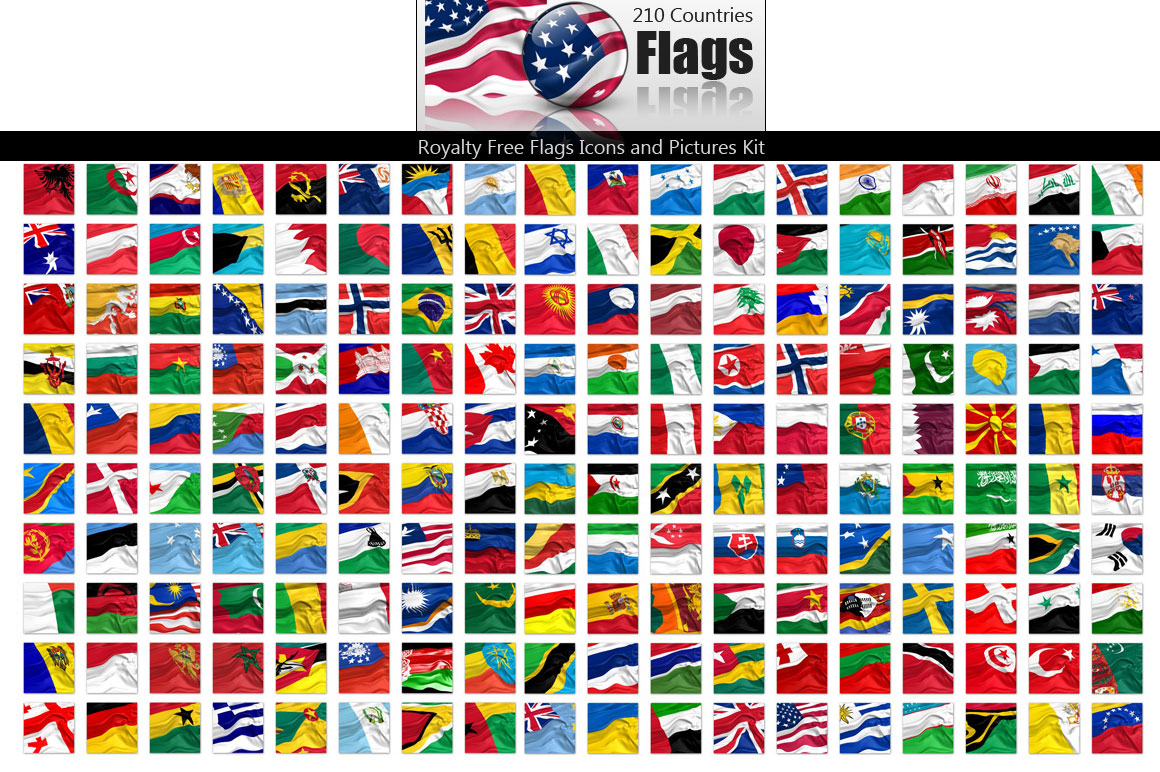 Royalty Free Flags Pictures & Icons Kit