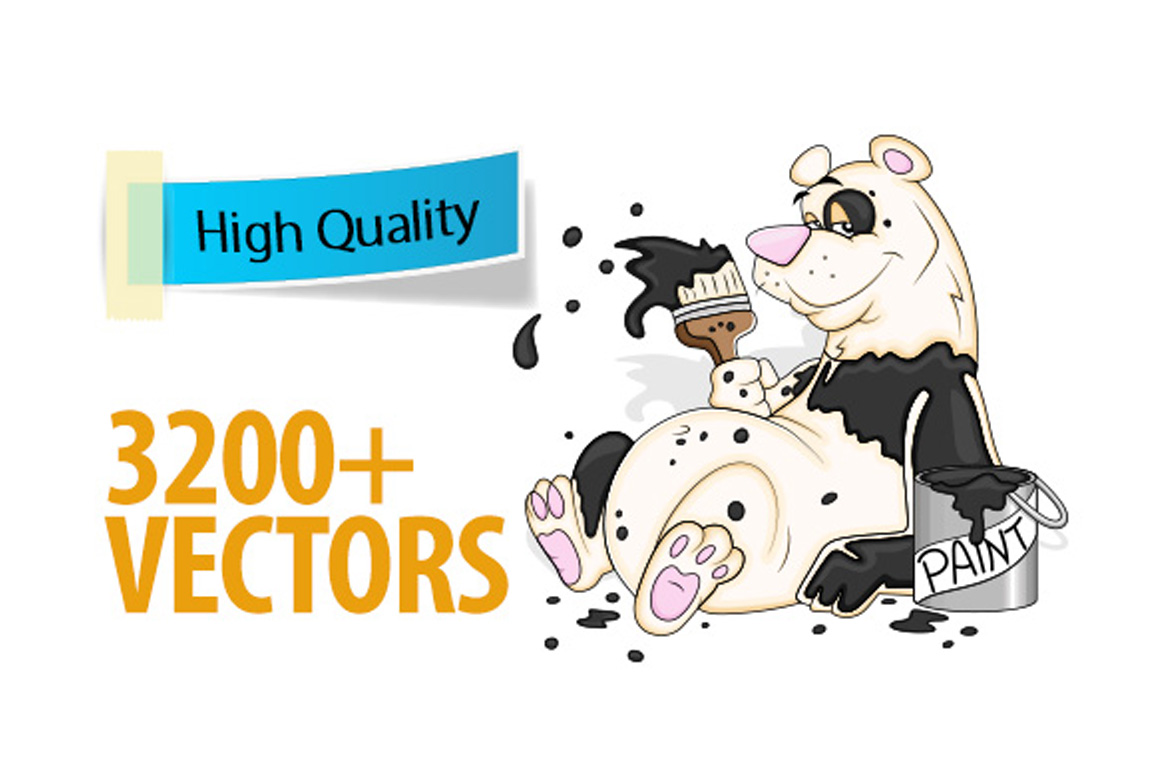 Over 3200 High-Quality Royalty Free Vectors for only $37