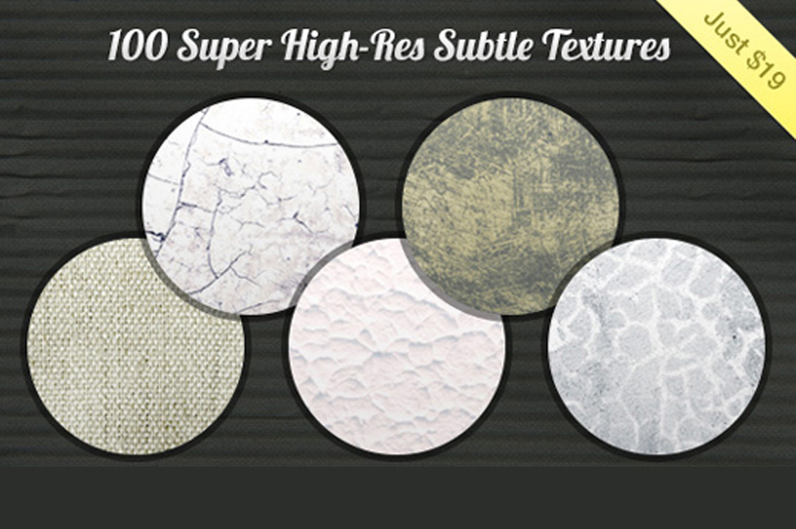 100 Super High-Res Subtle Textures with an Extended License