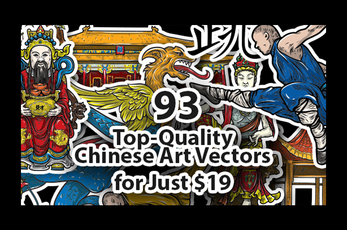 93 Top-Quality Chinese Art Vectors for Just $19 (Value $150)