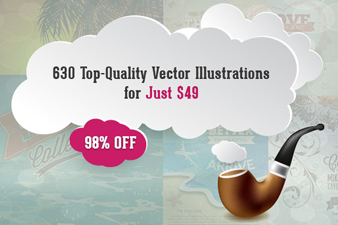 630 Top-Quality Vector Illustrations with Typography for Only $39