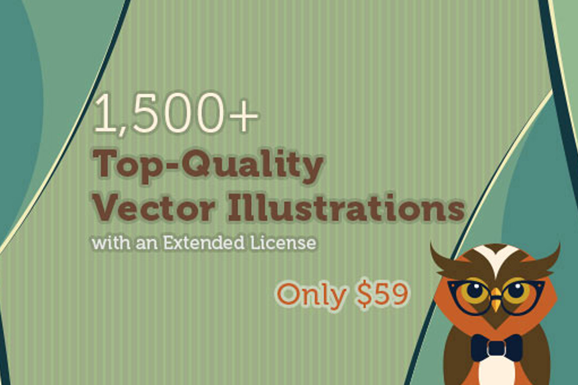 1,500+ Top-Quality Vector Illustrations with an Extended License – Only $59