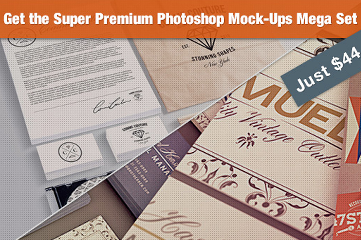 The PS Mock-Ups Super Bundle with 65 Top-Quality Mock-Ups – Only $44