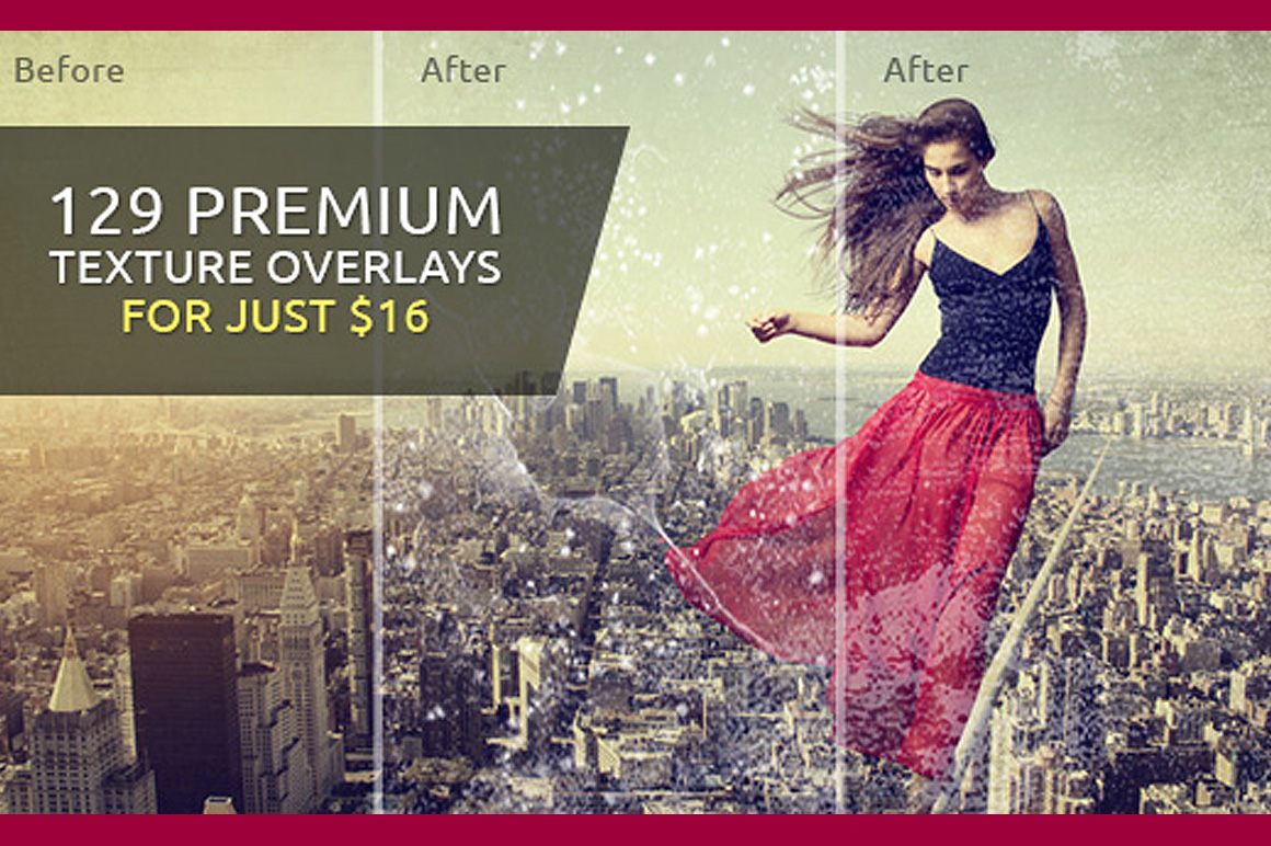 129 Premium Texture Overlays for Just $16