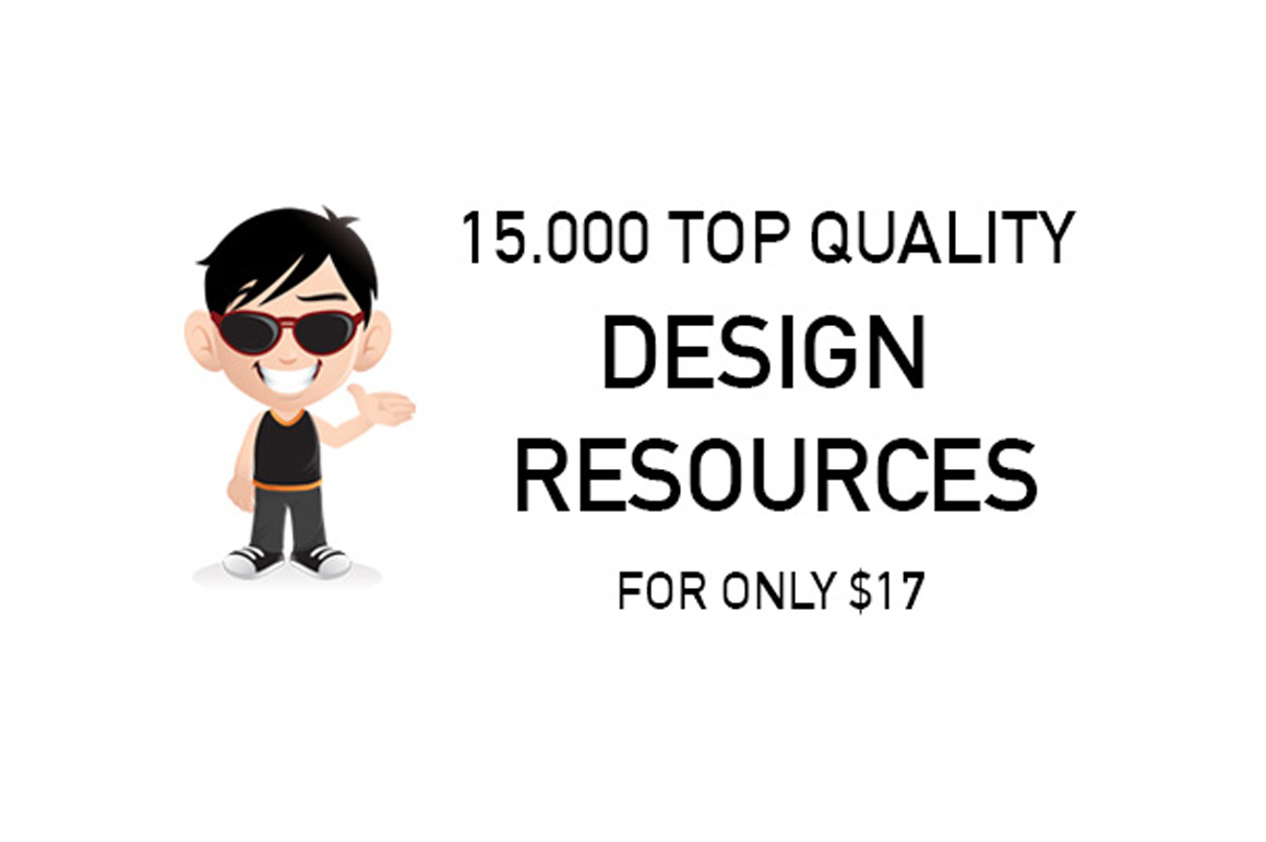 Download 15.000 Top Quality Design Resources for only $10