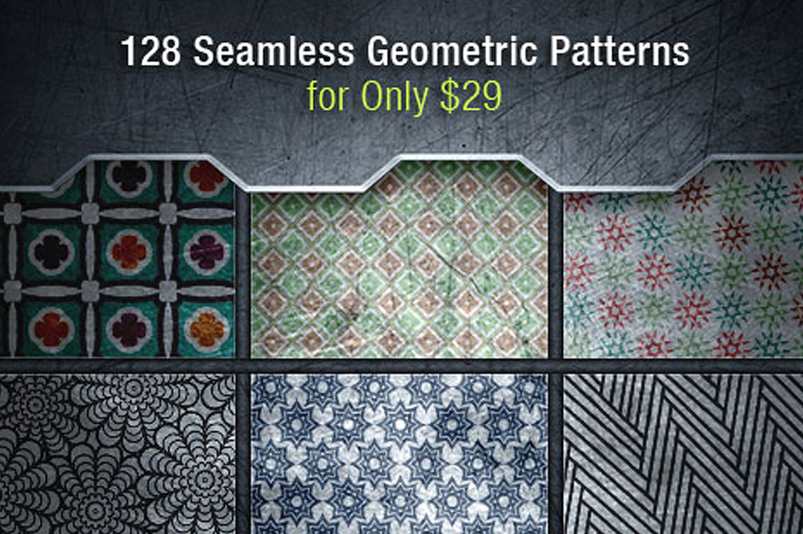 120+ Seamless Geometric Patterns with an Extended License – Only $29