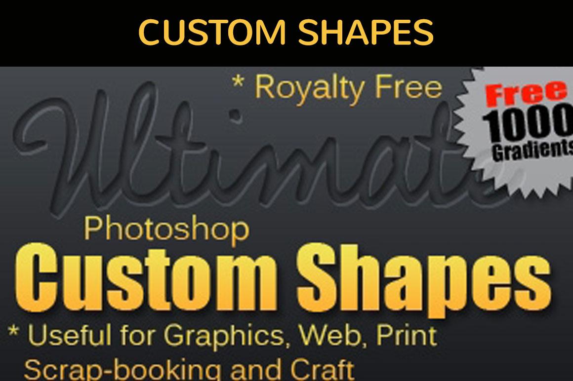 1000+ Photoshop Shapes Bundle