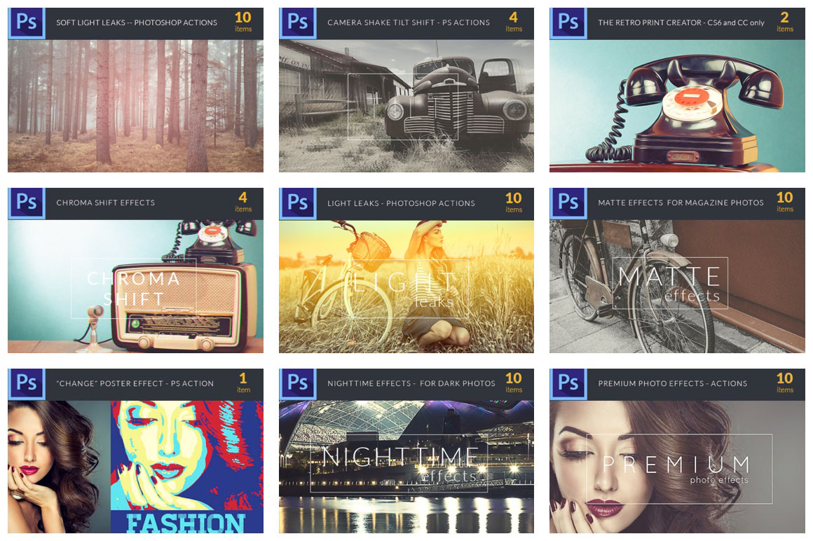 Easy Peasy Photoshop Actions – 71 Super Premium Actions for Only $24