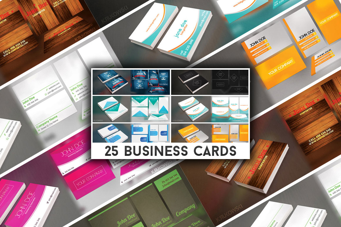 Get 25 Premium Business Card Templates
