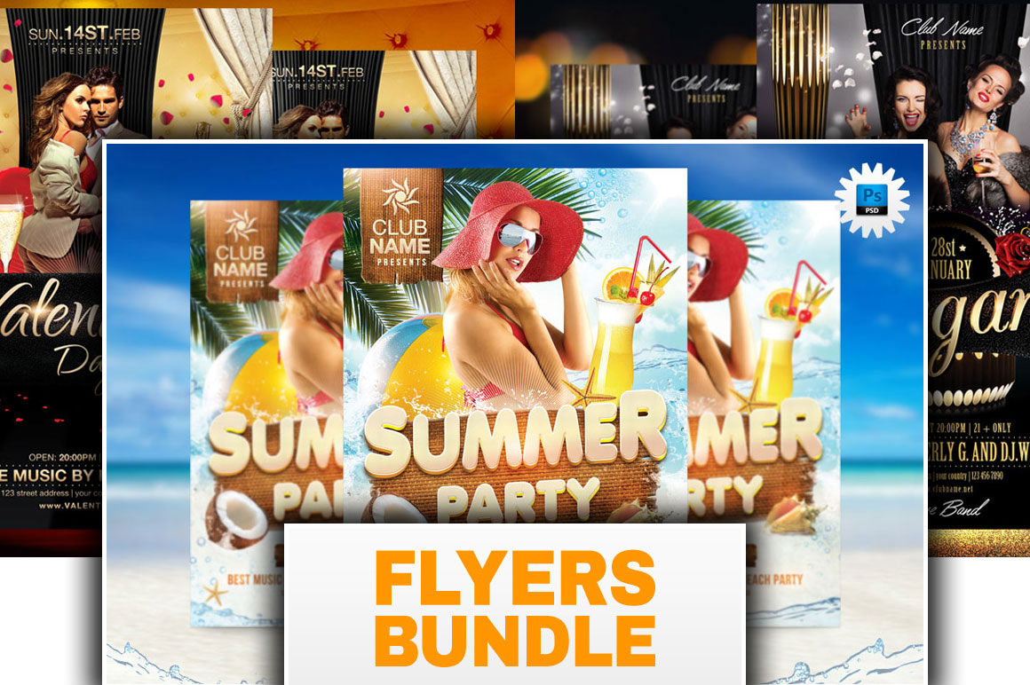 Party Flyers Bundle - Only 11$