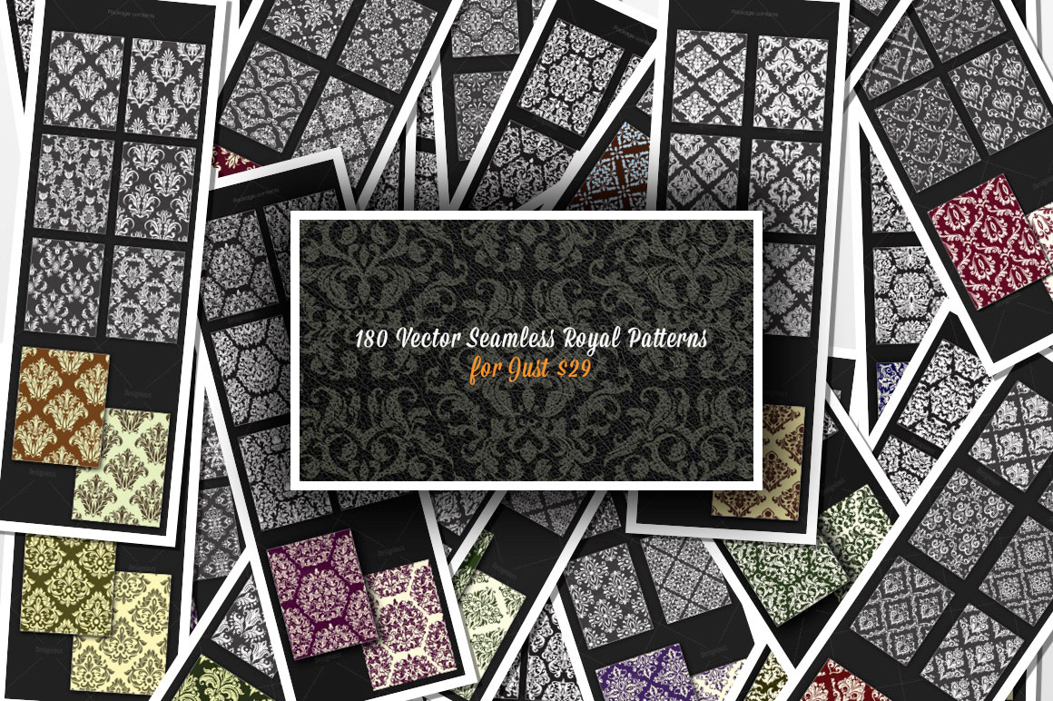 Get 180 Premium Seamless Royal Patterns with an Extended License for Only $29