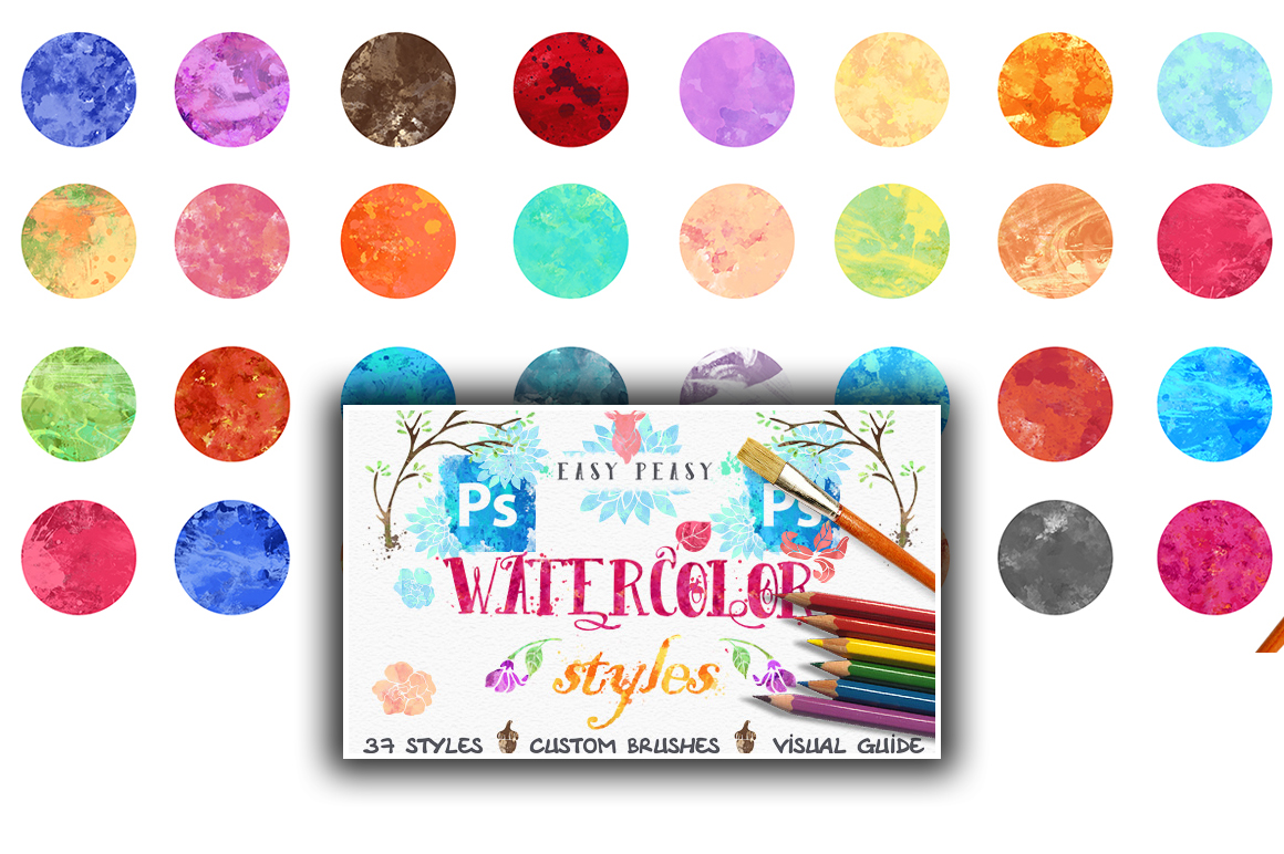 Get 37 Easy Peasy Watercolor Styles + Huge Bonus & Tutorial