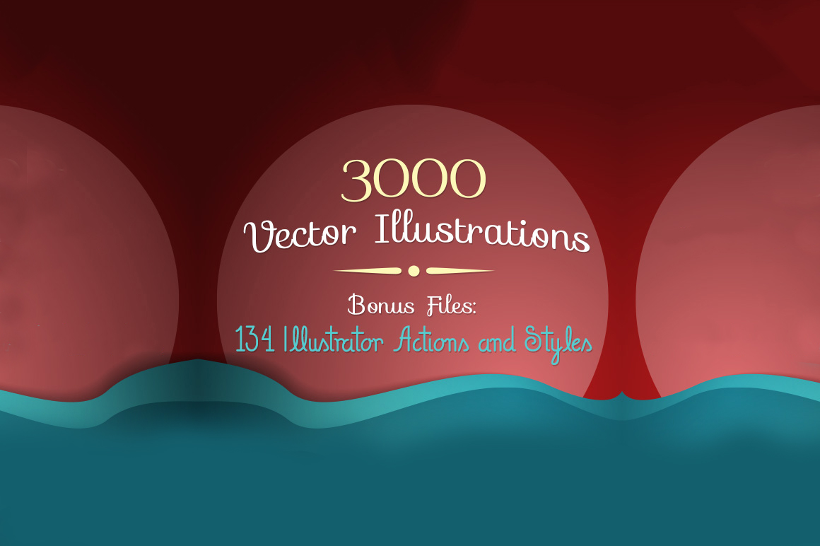3,000 Top-Quality Vector Illustrations & Huge Bonus