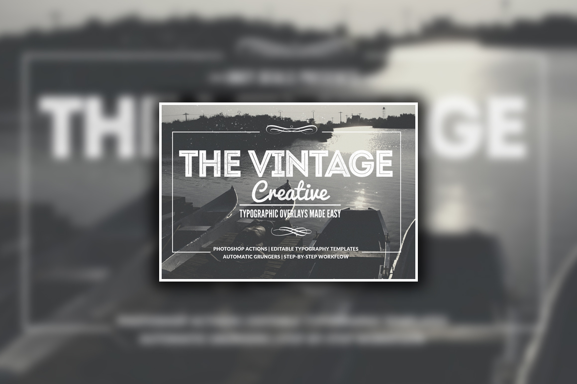 Easily Create Print-Size Designs with the Vintage Creative Typographic Collection