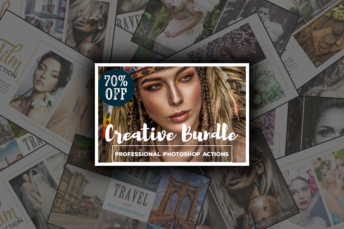 Creative Bundle Photoshop Actions - 150 Professional Photoshop Actions for only $29