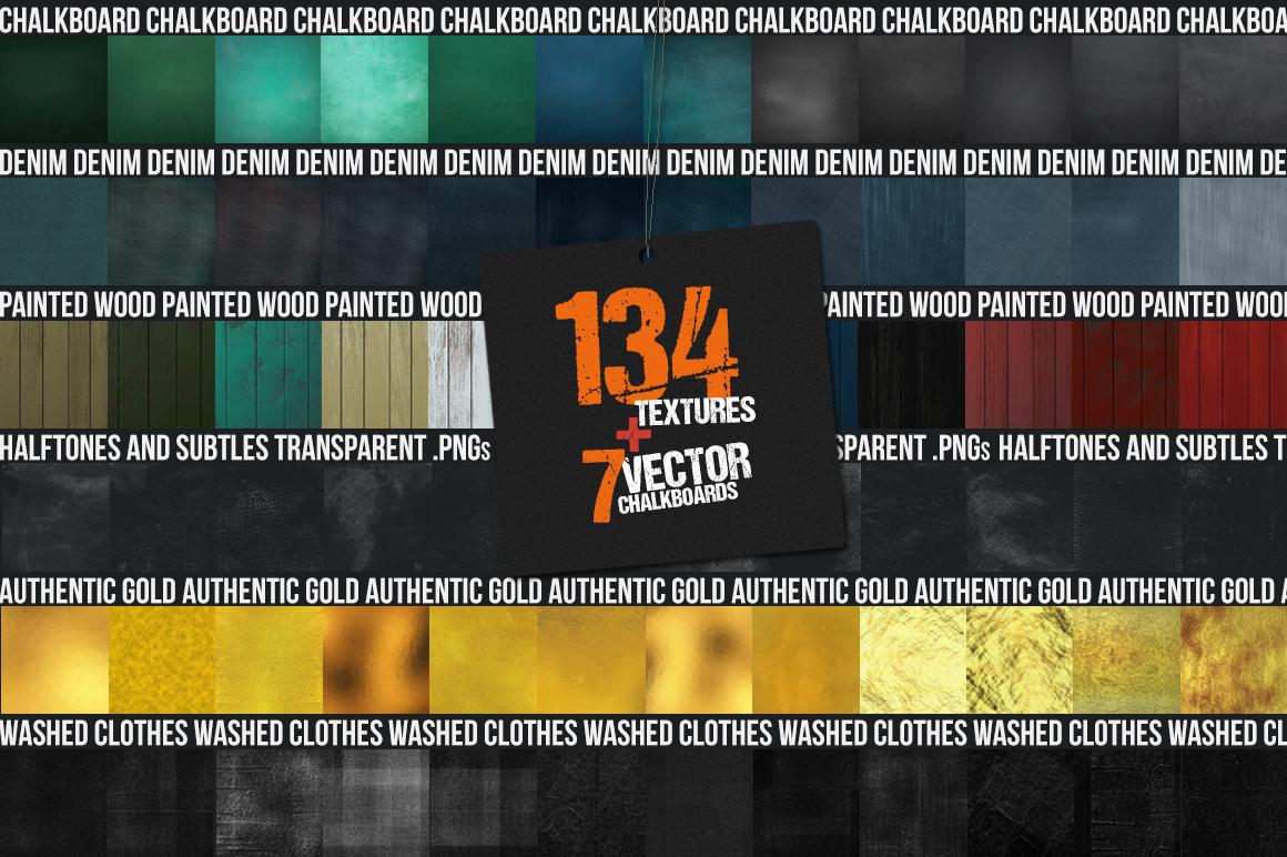 Get 134 Essential Textures Bundle + Bonus - 7 Vector Textures