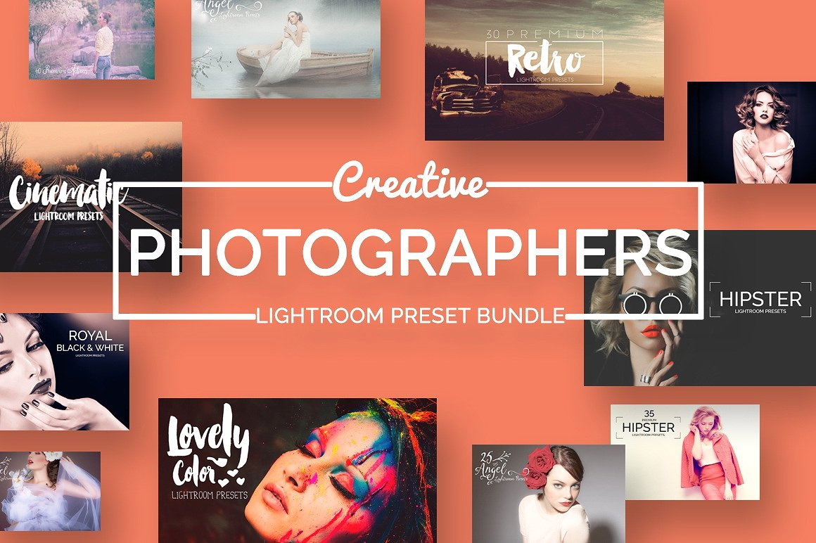 Creative Photographers Ligthroom Presets Bundle: 195 Premium Presets