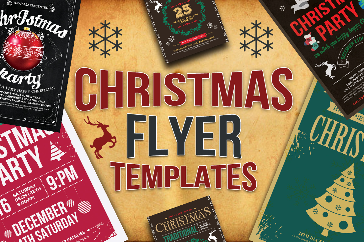 10 Christmas Flyers with a Commercial License -Only $9
