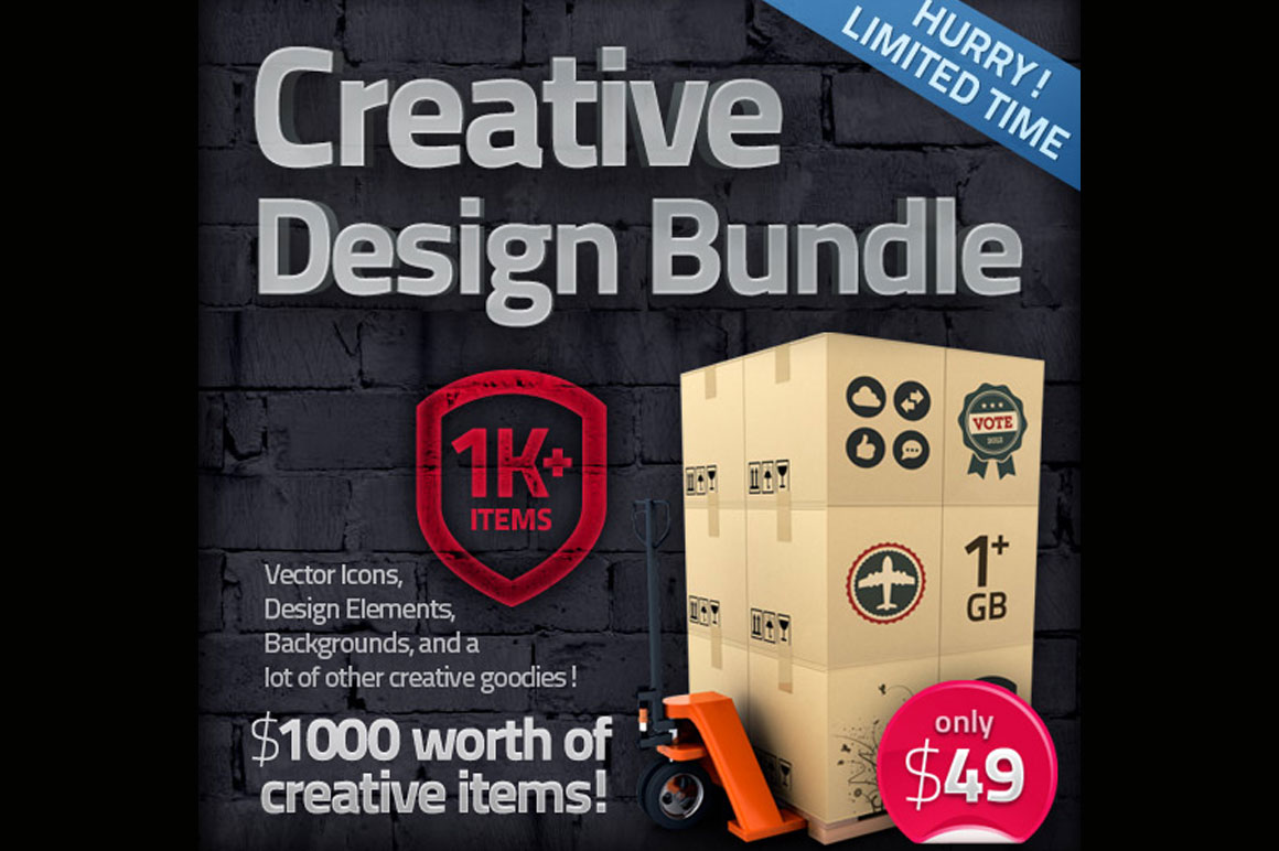 The Creative Design Bundle (over 1000 items!)
