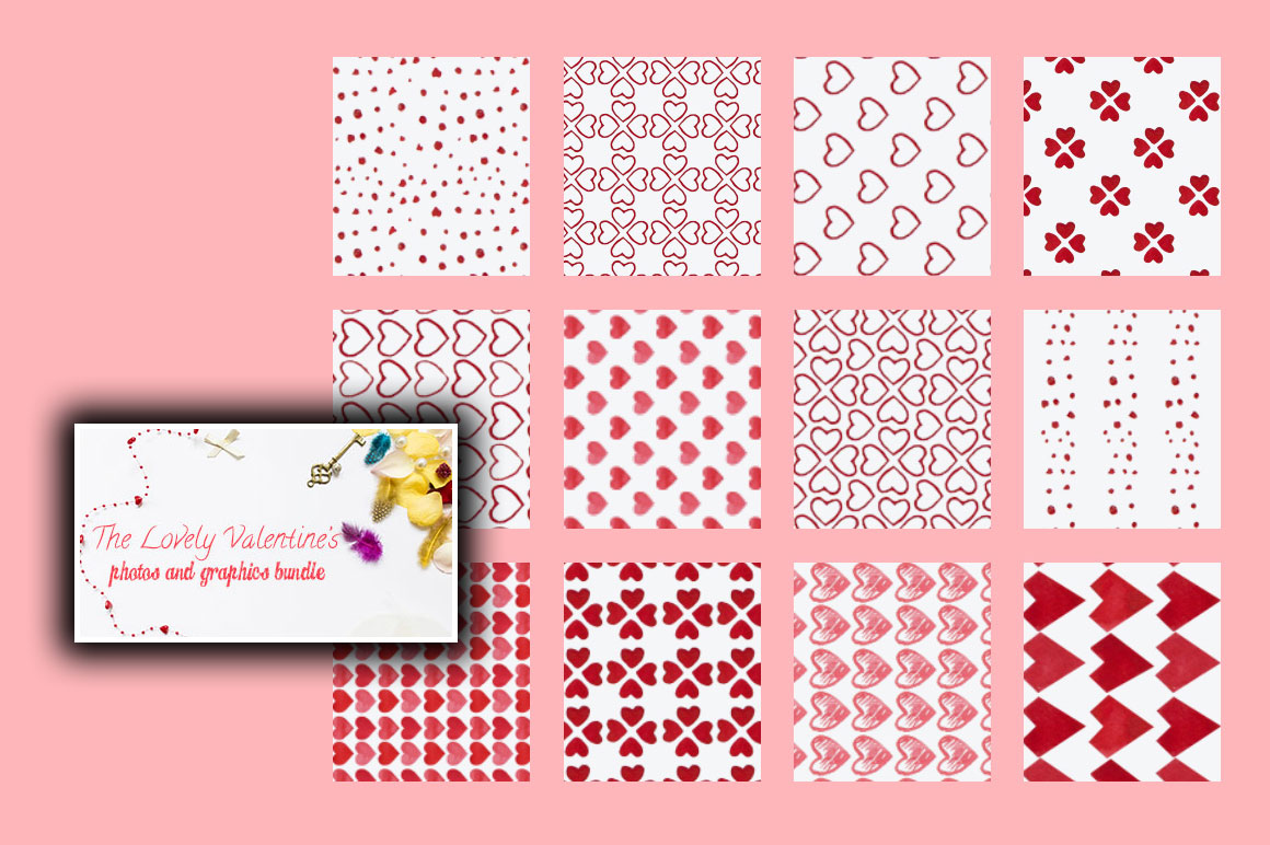 The Lovely Valentine's Photos & Graphics Bundle