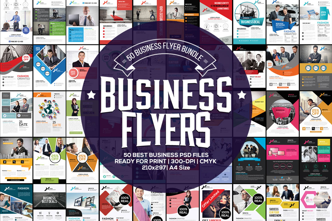 Download 50 Fresh Business Flyers Bundle