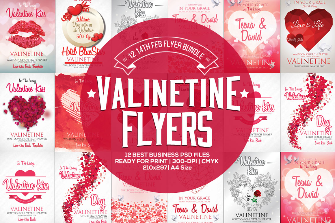 Get 12 Lovely Valentine Day Flyers
