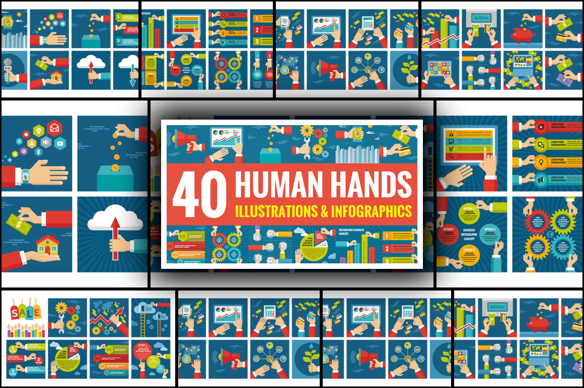 40 Creative Layouts With Human Hands